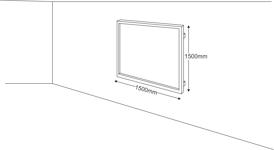 Ludus Selfie Wall Technical Drawing